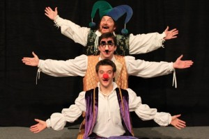 Dan Woods, Wes Whitaker, and Zack Meyer in Wm Shakespeare Abreviat.